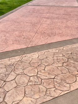 Stamped & Stained concrete