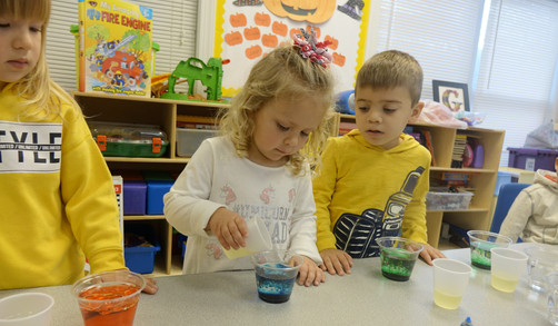 Creating a chemical reaction