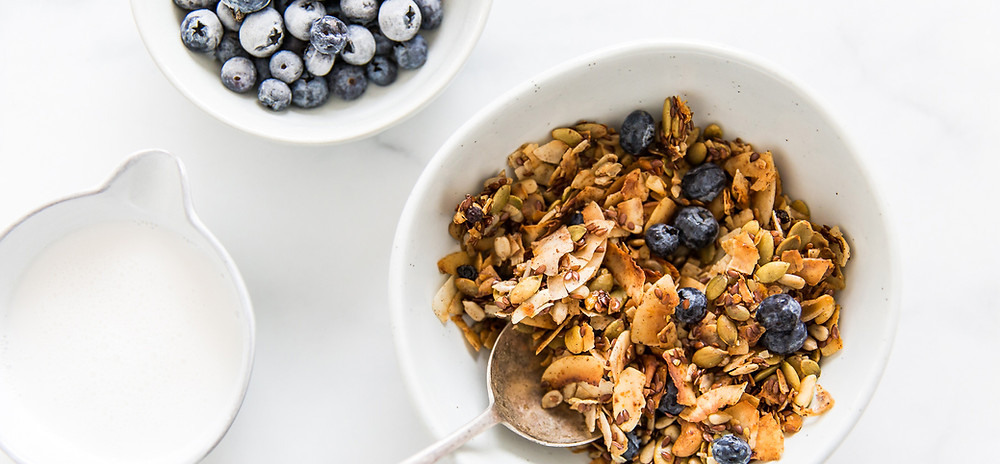 Coconut Granola, Breakfast, Recipe, Food Photographer, Food Stylist, Low Carb, Grain Free