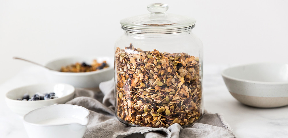 Coconut Granola, Breakfast, Recipe, Food Photographer, Food Stylist, Low Carb, Grain Free, Dubai