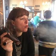 Esther Smoking a Cuban Cigar
