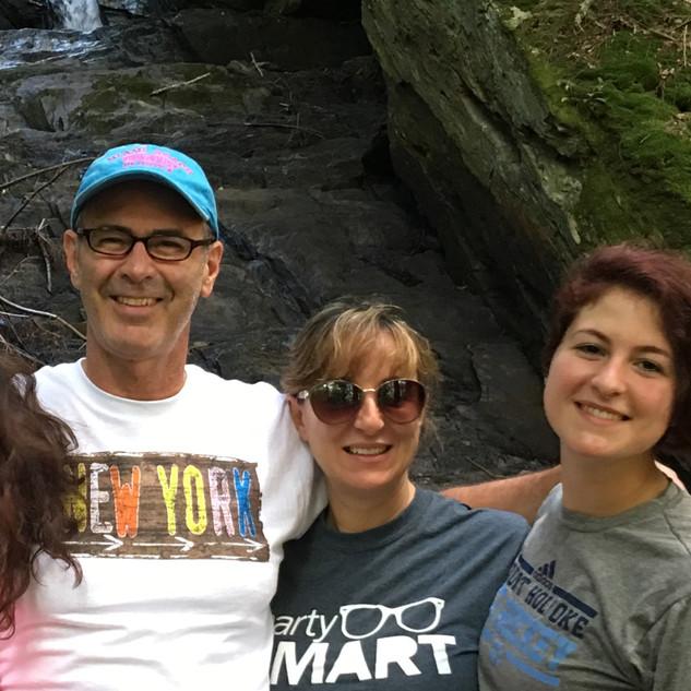 On a family hike.