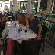 With Ed Thomson and Family in Migas, Spain