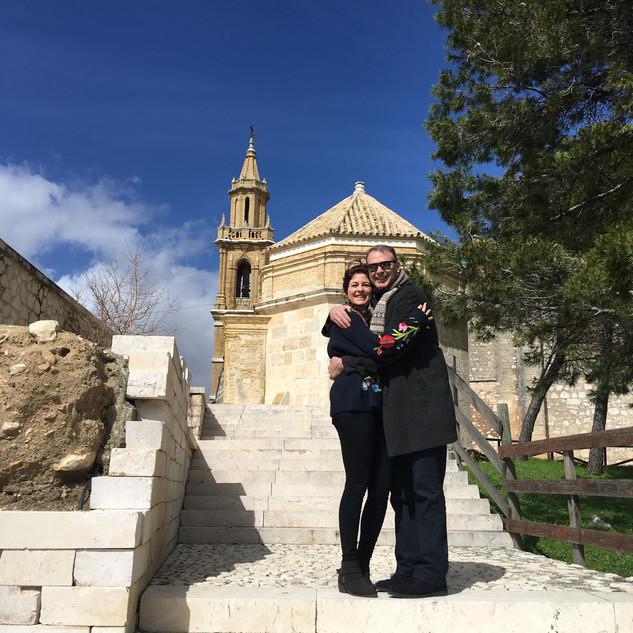 Kaila and me in Estepa, Spain