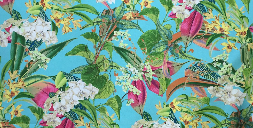 Tropical Island Floral Fabric