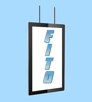 Ceiling hang digital signage