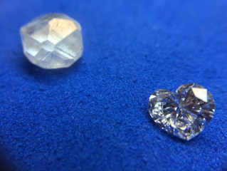 How do diamonds go from rough to polished?