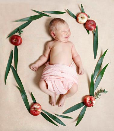 Babyfotografie Lichtblau Rosarot