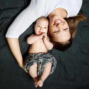 Babyfoto mit Mama