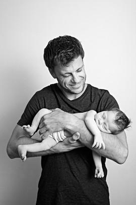 Babyfoto mit Papa