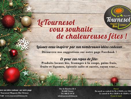 Joyeuses fêtes avec le Tournesol !