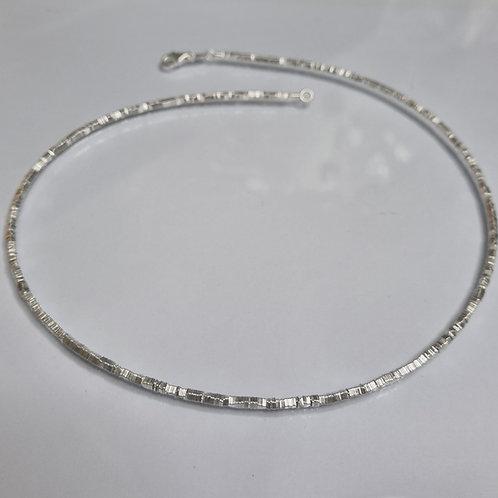Kette aus 925er Silber, matt