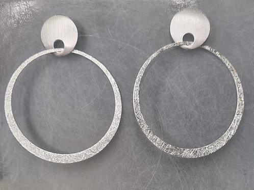 Ohrstecker aus  925er  Silber,  matt