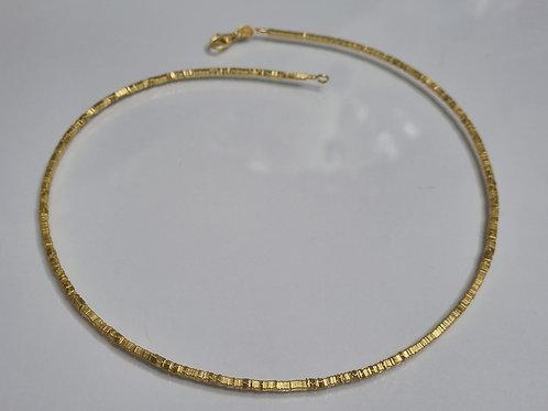 Kette aus 925er Silber, vergoldet, matt