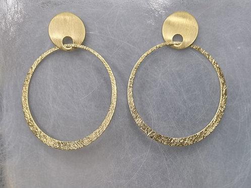 Ohrstecker aus 925er Silber, vergoldet, matt