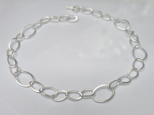 Gliederkette aus 925er Silber, matt