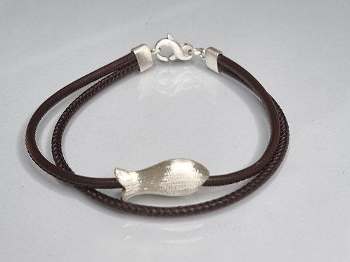 Armband aus Nappaleder mit 925er Silber