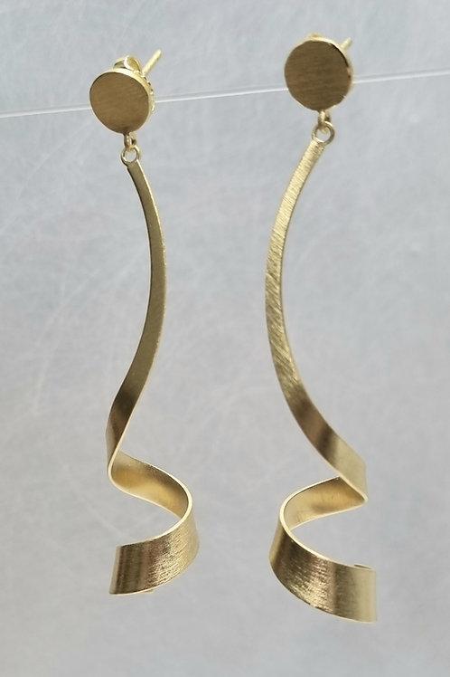 Ohrstecker aus 925er Silber, matt,  vergoldet