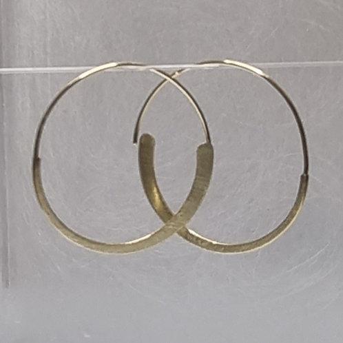 Creolen aus 925er Silber, vergoldet