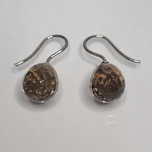 Ohrhänger mit Rauchquarz, 925er Silber