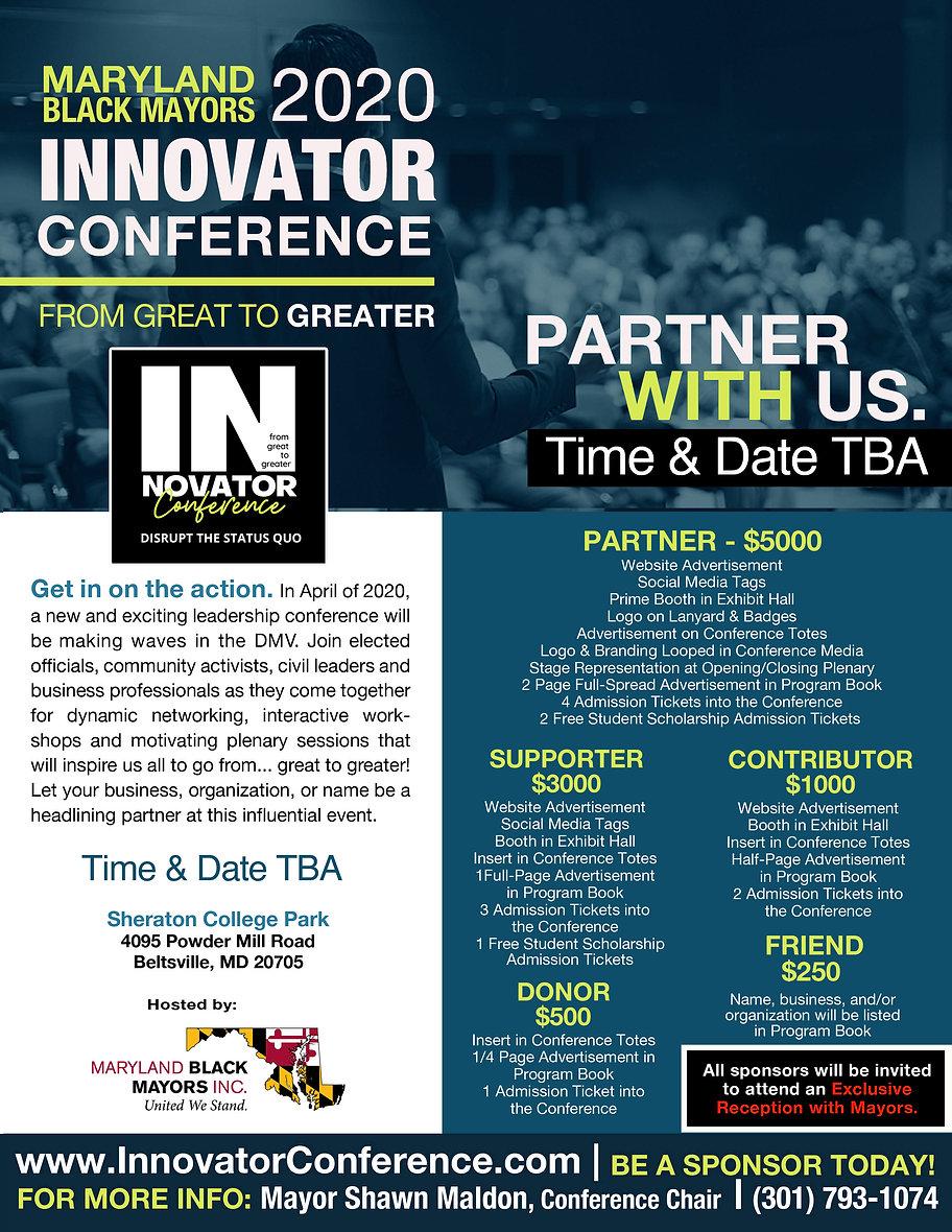 Innovator Conference Sponsorship Form Re