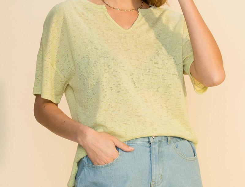 Summer Basic T.Shirt -Lime