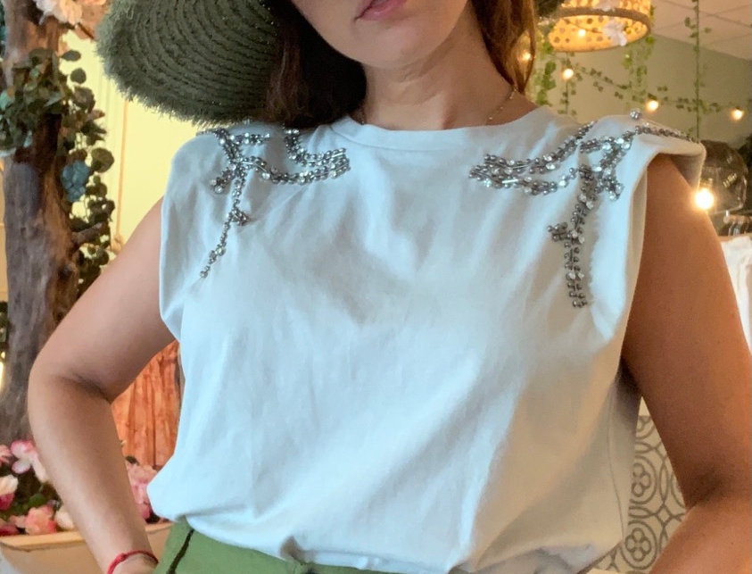 D Luxe Sage Muscle Tee