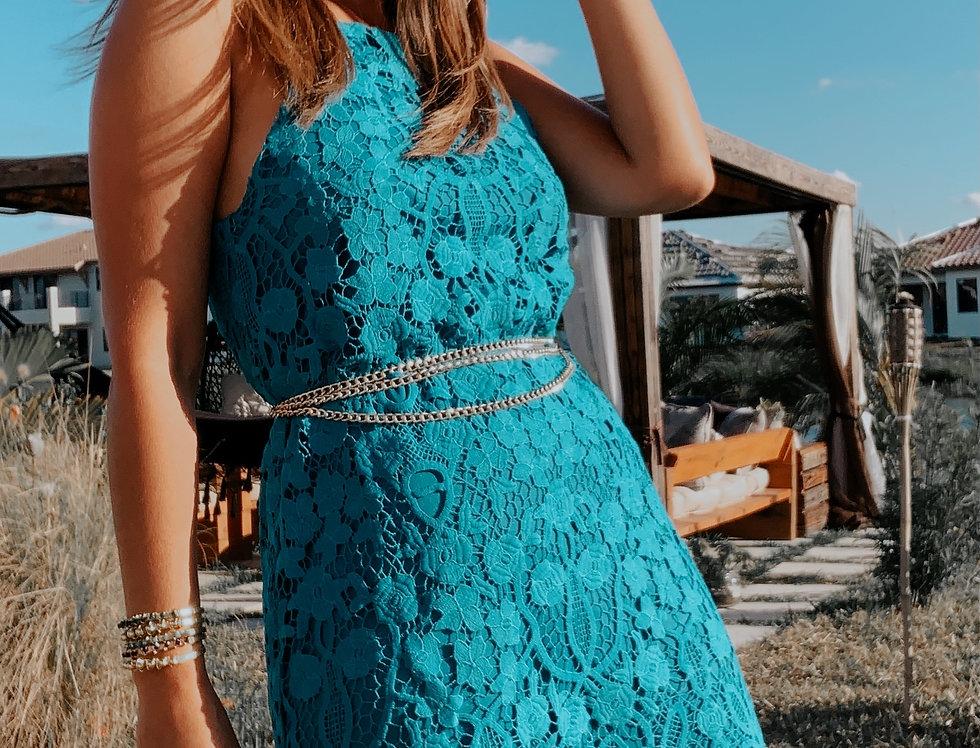 Azaleia Sleeveless Crochet Lace Racer Back Detail mini Dress