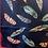 Thumbnail: Bali Multi Navy Silk Feathers Bandana
