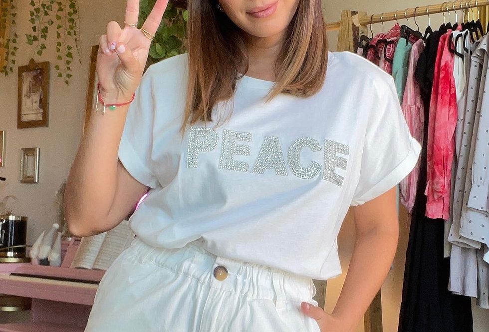 Peace T shirt with Shoulder Pads