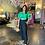 Thumbnail: Positano Puffy Sleeves Crop Top- Emerald