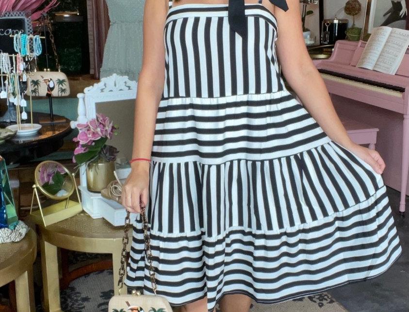Amalfi Coast Stripes Dress