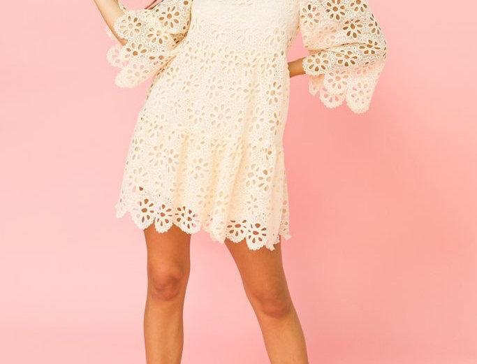 Maldives Crochet Mini Dress