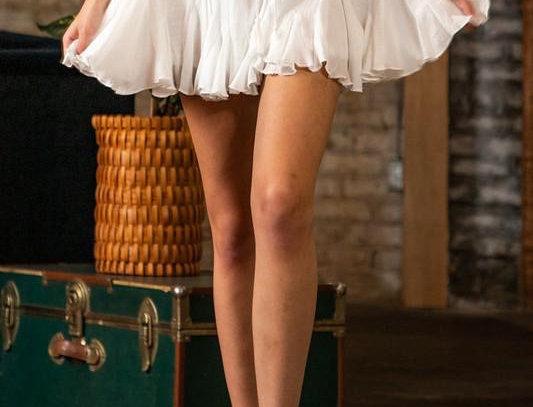Granada White Mini Skirt