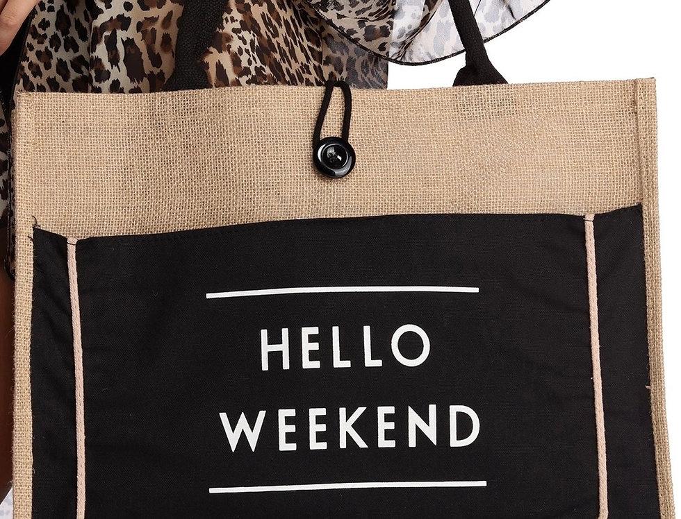 Hello Weekend Tote