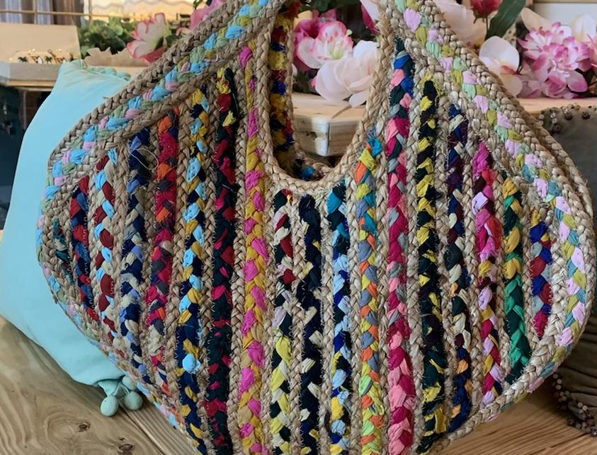 Braided Boho Rainbow Bag