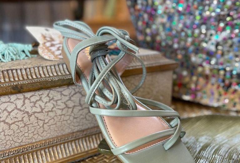 Tulum Ankle Strap Sandals-Sage
