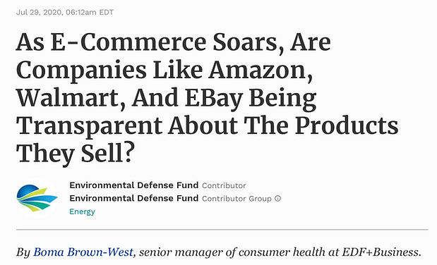 Forbes - E-Commerce - Sustainable Busine