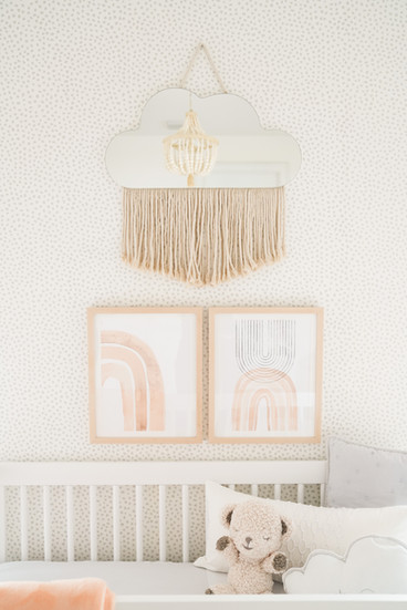 Modern baby girl nursery