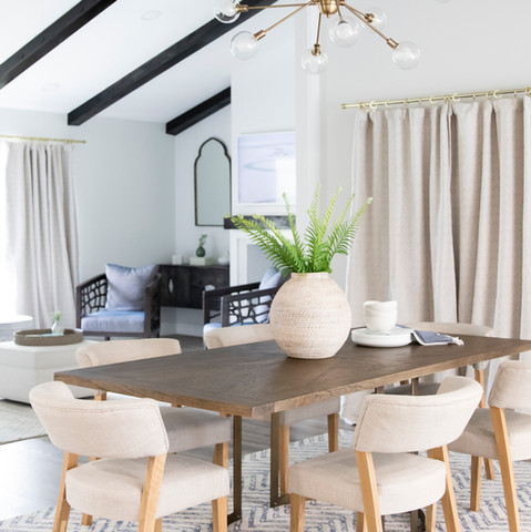 Modern dining room by KJ Design Collective