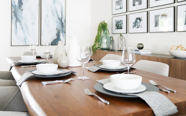 Modern tablescape by Miami based interior designer KJ Design Collective