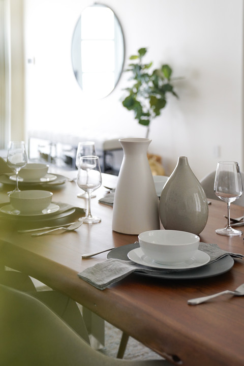 Modern and casual dining room decor by Miami based interior designer KJ Design Collective
