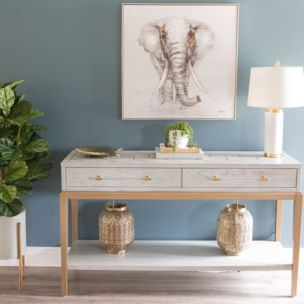 Stylish entryway and foyer design by Miami based interior designer KJ Design Collective
