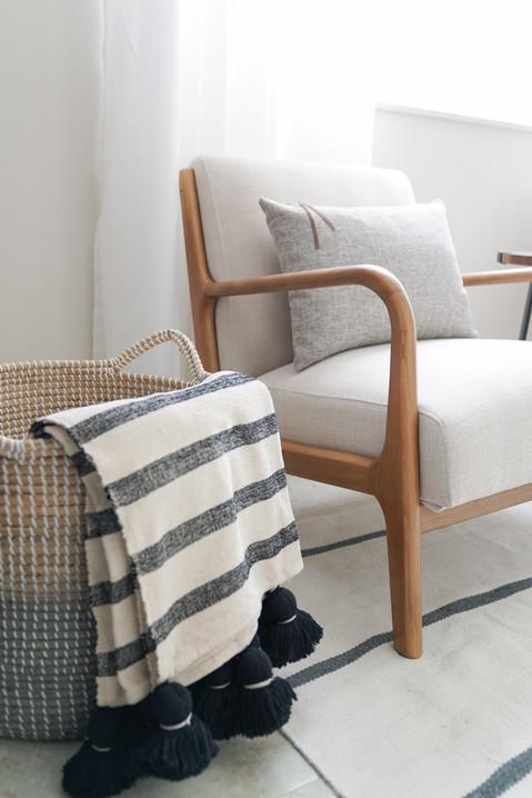 Modern and inviting living room decor by Miami based interior designer KJ Design Collective