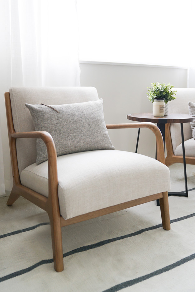 Modern and casual living room decor by Miami based interior designer KJ Design Collective