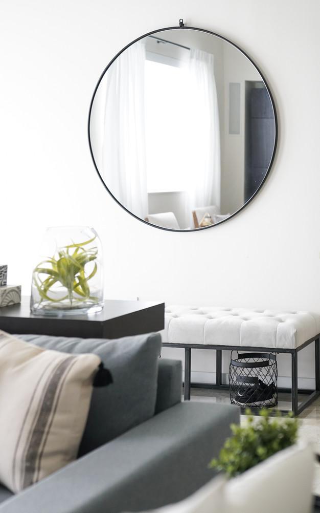 Modern and inviting entryway decor by Miami based interior designer KJ Design Collective