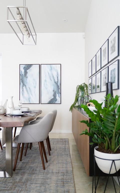 Modern dining room by Miami based interior designer KJ Design Collective
