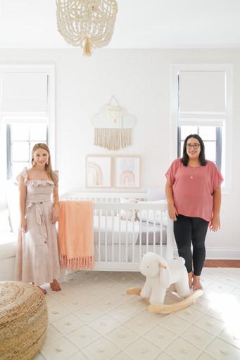 KJ Design Collective Team in modern baby girl nursery