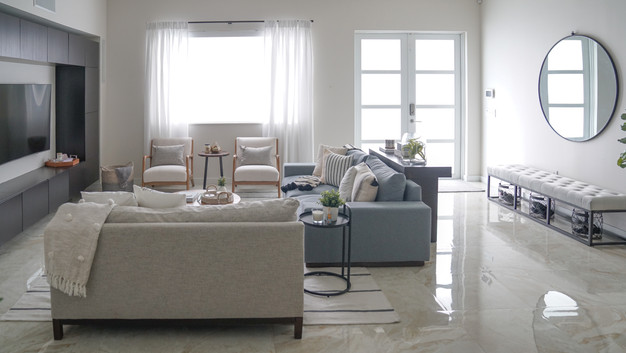 Modern and inviting living room decor by Miami based interior designer KJ Design Collective
