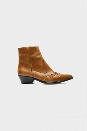 Boots cuir cognac